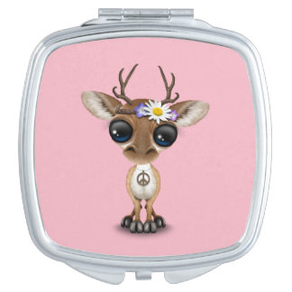 Cute Baby Deer Hippie Vanity Mirror