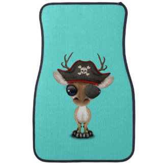Cute Baby Deer Pirate Car Mat