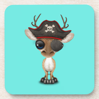 Cute Baby Deer Pirate Coaster