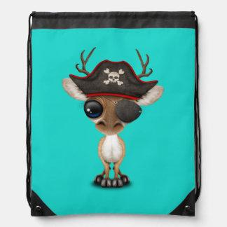 Cute Baby Deer Pirate Drawstring Bag