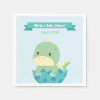 Cute Baby Dinosaur About to Hatch Party Supplies Disposable Napkins
