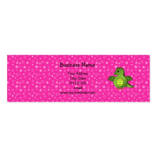 Cute baby dragon business card templates
