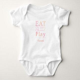 Cute Baby Eat Sleep Play Funny Kids Shirt Girl