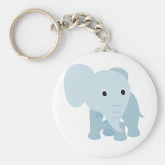 Cute Baby Elephant Basic Round Button Key Ring
