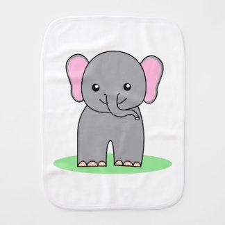 Cute baby elephant burp cloths