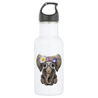 Cute Baby Elephant Hippie 532 Ml Water Bottle