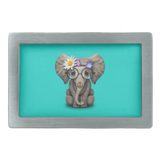 Cute Baby Elephant Hippie Belt Buckle