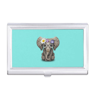 Cute Baby Elephant Hippie Business Card Cases