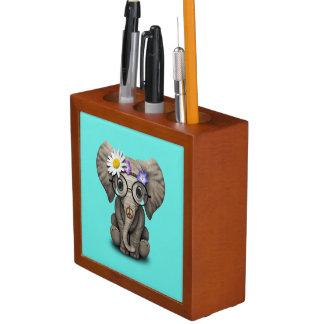 Cute Baby Elephant Hippie Desk Organiser