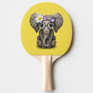 Cute Baby Elephant Hippie Ping Pong Paddle