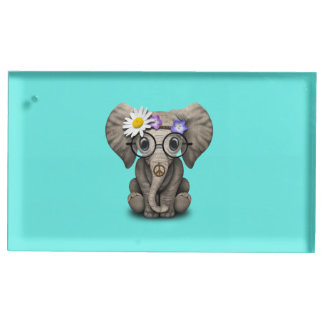 Cute Baby Elephant Hippie Table Number Holder