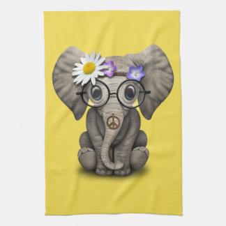 Cute Baby Elephant Hippie Tea Towel