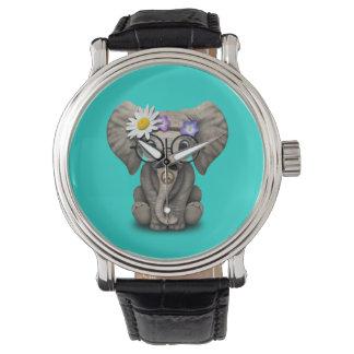 Cute Baby Elephant Hippie Watch