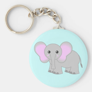 Cute Baby Elephant Key Ring