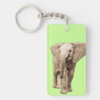 Cute Baby Elephant Acrylic Keychains