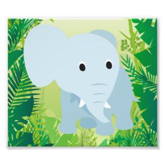 Cute Baby Elephant Art Photo