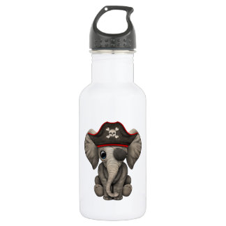 Cute Baby Elephant Pirate 532 Ml Water Bottle