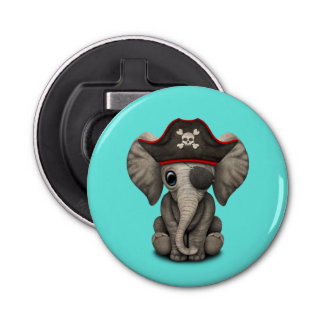 Cute Baby Elephant Pirate Bottle Opener