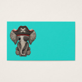 Cute Baby Elephant Pirate Business Card