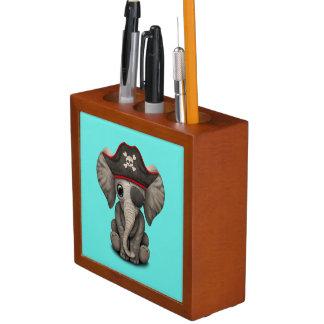 Cute Baby Elephant Pirate Desk Organiser