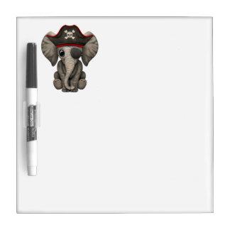 Cute Baby Elephant Pirate Dry Erase Board