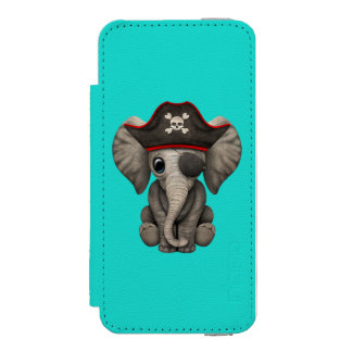Cute Baby Elephant Pirate Incipio Watson™ iPhone 5 Wallet Case