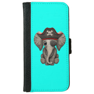Cute Baby Elephant Pirate iPhone 6 Wallet Case