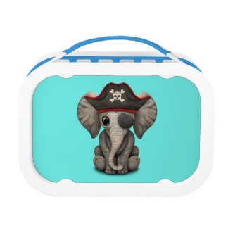 Cute Baby Elephant Pirate Lunch Box
