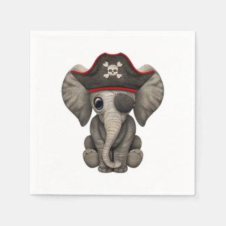 Cute Baby Elephant Pirate Paper Napkin