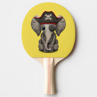 Cute Baby Elephant Pirate Ping Pong Paddle