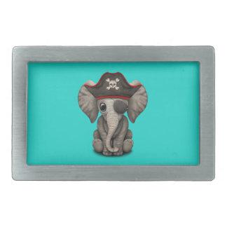 Cute Baby Elephant Pirate Rectangular Belt Buckle
