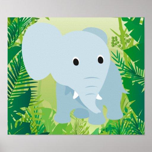 Cute Baby Elephant Print