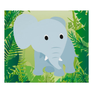 Cute Baby Elephant Poster