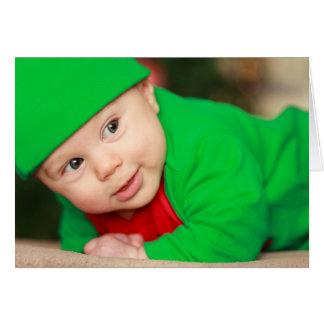 Cute Baby Elf Greeting Card