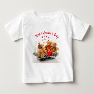 Cute Baby' First Valentines' Day Monogram T-Shirt