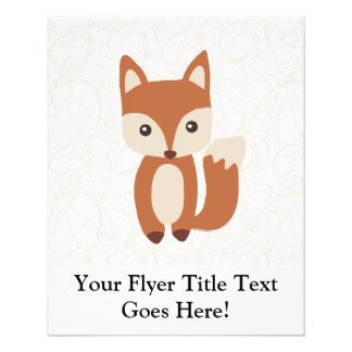Cute Baby Fox 11.5 Cm X 14 Cm Flyer
