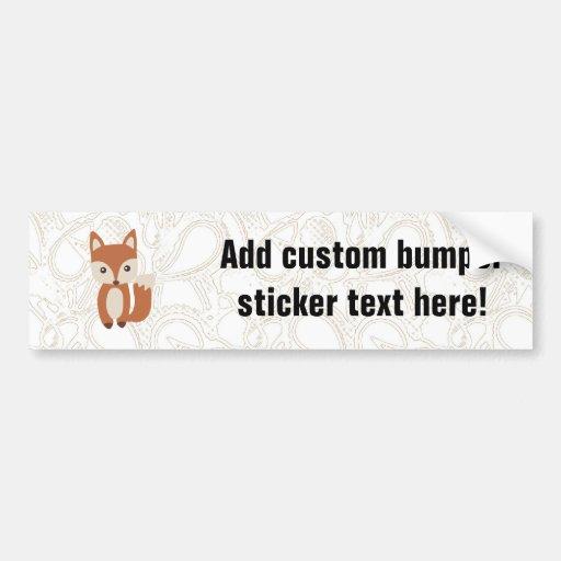 Cute Baby Fox Bumper Stickers