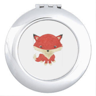 Cute Baby Fox Compact Mirror