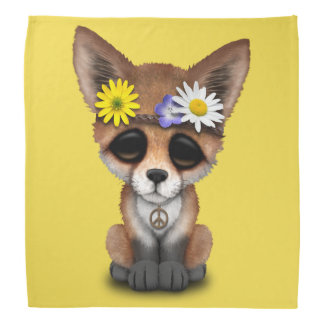 Cute Baby Fox Hippie Bandana