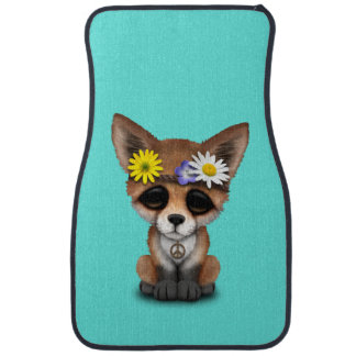 Cute Baby Fox Hippie Car Mat