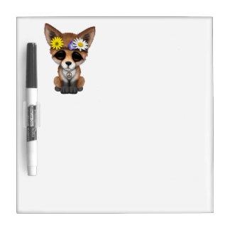 Cute Baby Fox Hippie Dry Erase Board
