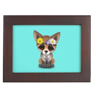 Cute Baby Fox Hippie Keepsake Box