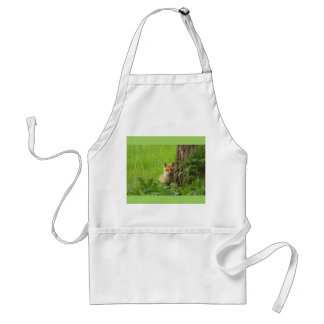 Cute baby fox in springtime photograph standard apron