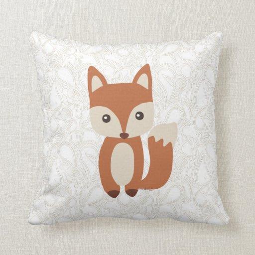 Cute Pillows And Blankets : Cute Baby Fox Throw Pillows Zazzle