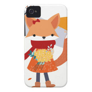 Cute baby fox wolf girl in happy time Case-Mate iPhone 4 case