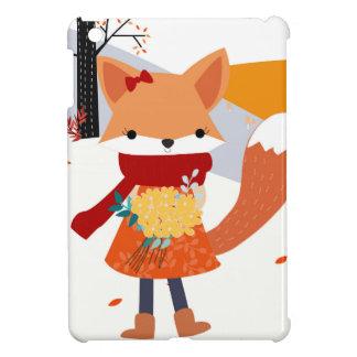 Cute baby fox wolf girl in happy time iPad mini case