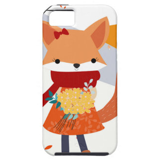 Cute baby fox wolf girl in happy time tough iPhone 5 case