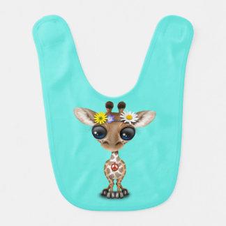 Cute Baby Giraffe Hippie Bib