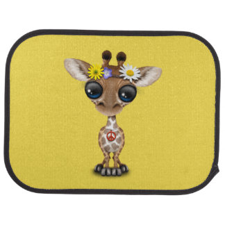 Cute Baby Giraffe Hippie Car Mat