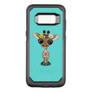 Cute Baby Giraffe Hippie OtterBox Commuter Samsung Galaxy S8 Case